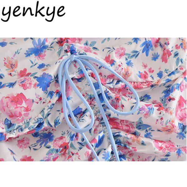 YENKYE-Sexy-Drawstring-Draped-Print-Floral-Skirt-Women-Back-Zipper-High-Waist-Mini-Jupe-Femme-Summer-4.jpg
