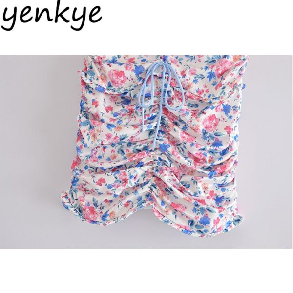 YENKYE-Sexy-Drawstring-Draped-Print-Floral-Skirt-Women-Back-Zipper-High-Waist-Mini-Jupe-Femme-Summer-5.jpg