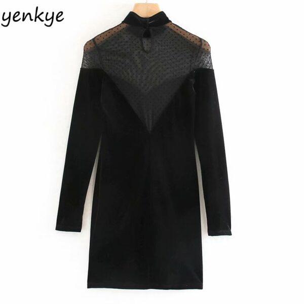 2020-Women-Sexy-Semi-sheer-Gauze-Patchwork-Velvet-Dress-Female-Long-Sleeve-High-Neck-Vintage-Black-1.jpg