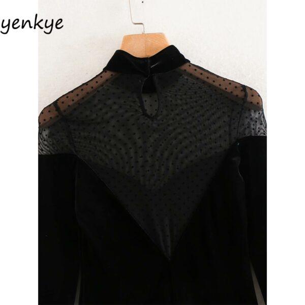 2020-Women-Sexy-Semi-sheer-Gauze-Patchwork-Velvet-Dress-Female-Long-Sleeve-High-Neck-Vintage-Black-5.jpg