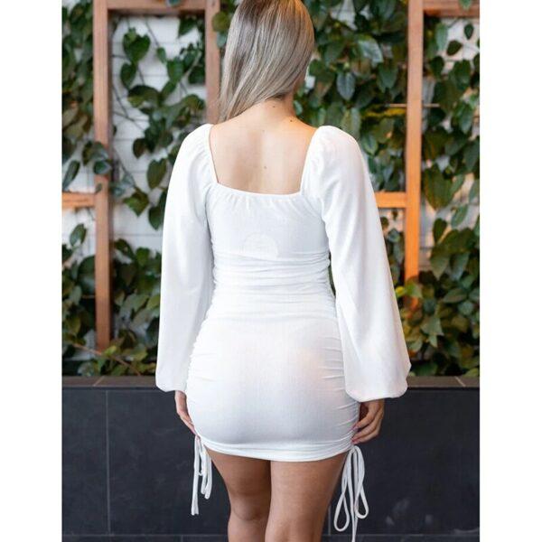 2021-New-Dress-Women-Summer-White-Long-Sleeve-Bodycon-Shoulder-Sexy-Mini-Dress-Drawstring-Ruched-Puff-4.jpg