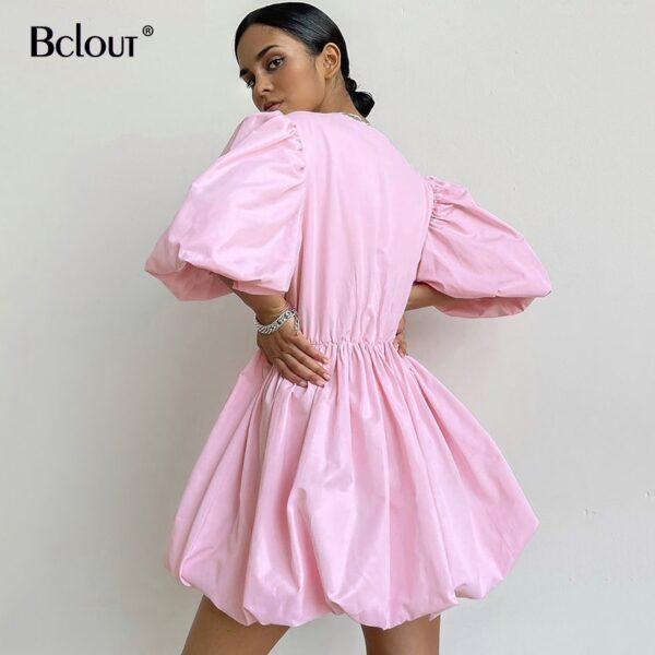 Bclout-Elegant-White-Pink-V-Neck-Bodycon-Dress-Women-2021-Summer-Puff-Sleeve-Short-Dress-Casual-3.jpg