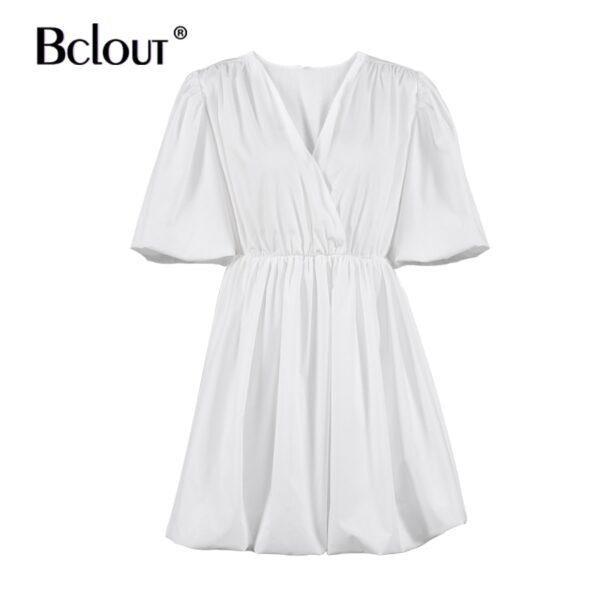 Bclout-Elegant-White-Pink-V-Neck-Bodycon-Dress-Women-2021-Summer-Puff-Sleeve-Short-Dress-Casual-5.jpg