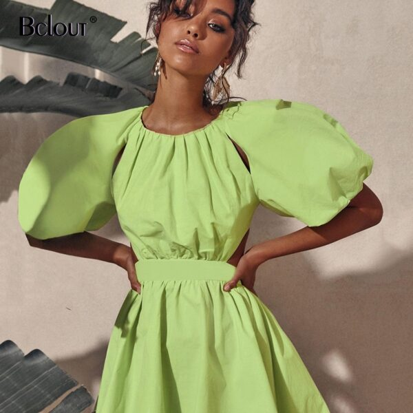 Bclout-Vintage-Green-Puff-Sleeve-Elegant-Woman-Dress-Summer-Shirt-Dresses-Female-Zipper-Fashion-Spring-Sexy-1.jpg